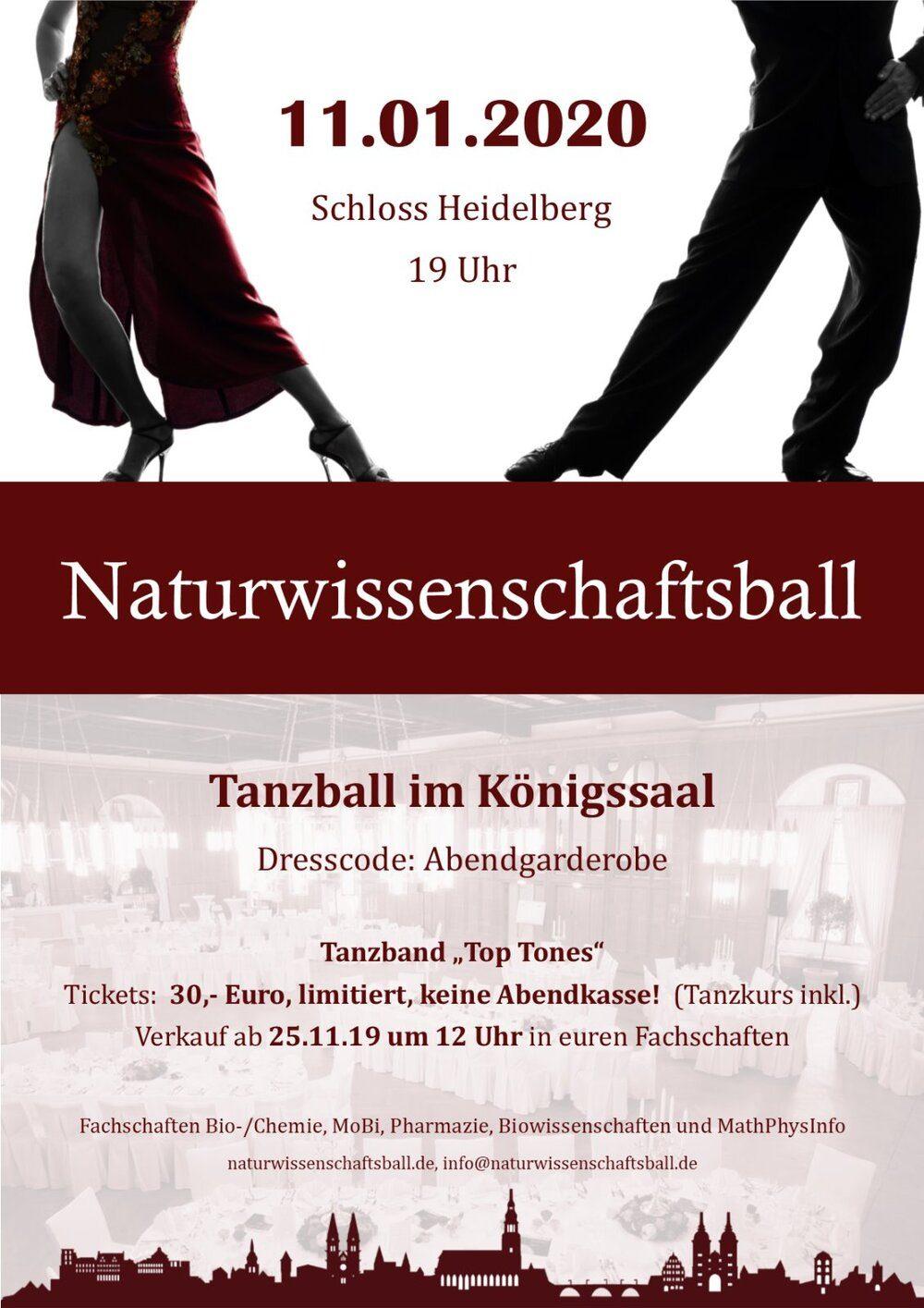 Flyer Naturwissenschaftsball 2019
